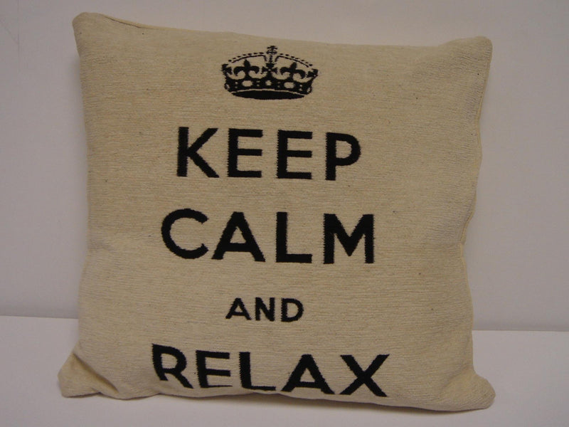 Keep Calm Relax Cushion Cover Natural