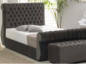 Chiswick Luxury Bed Frame in Malta Graphite