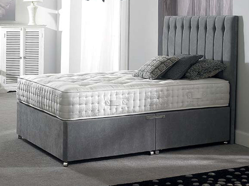Shelly FS Bed Base in Hercules Silver