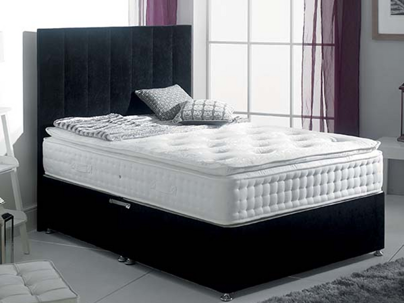 Montgomery FS Bed Base in Hercules Black