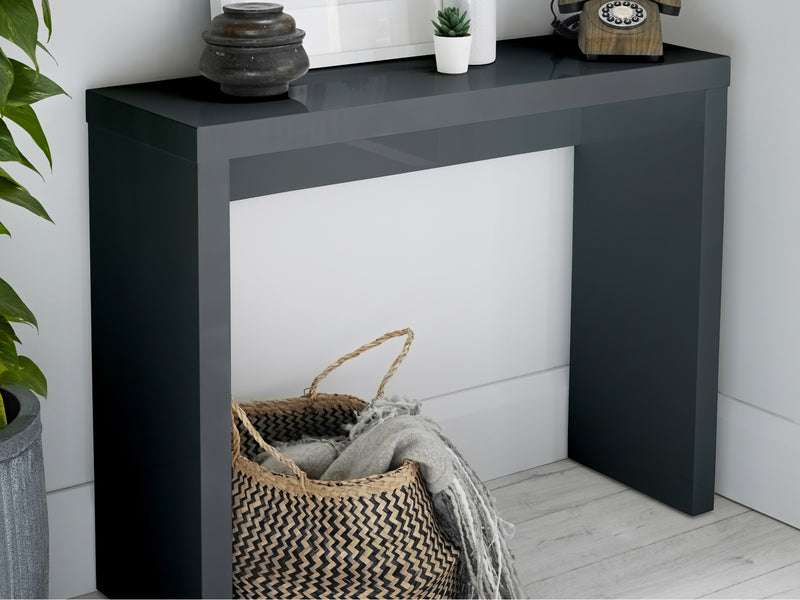 Puro Console Table in Charcoal