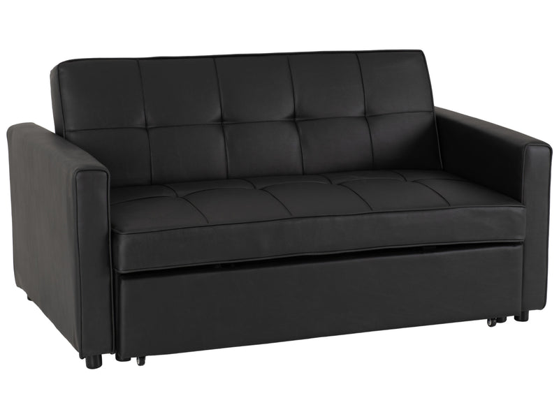 Astoria Sofa Bed in Black Faux Leather