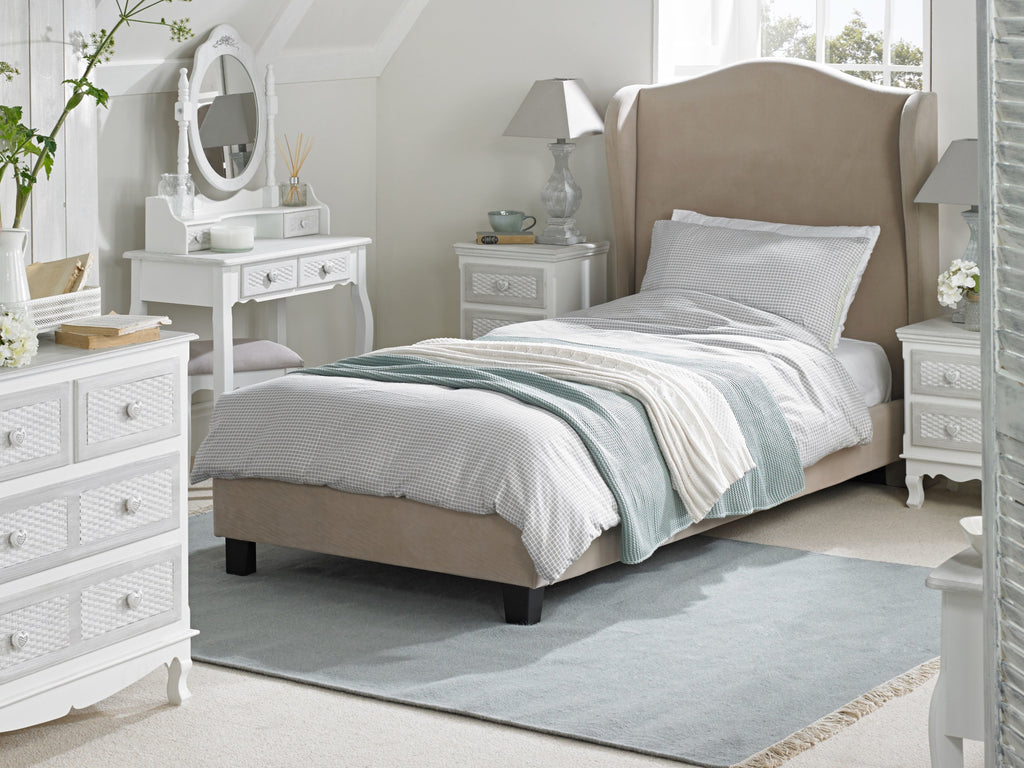 Brittany  Shabby Chic Lattice Bedroom Furniture