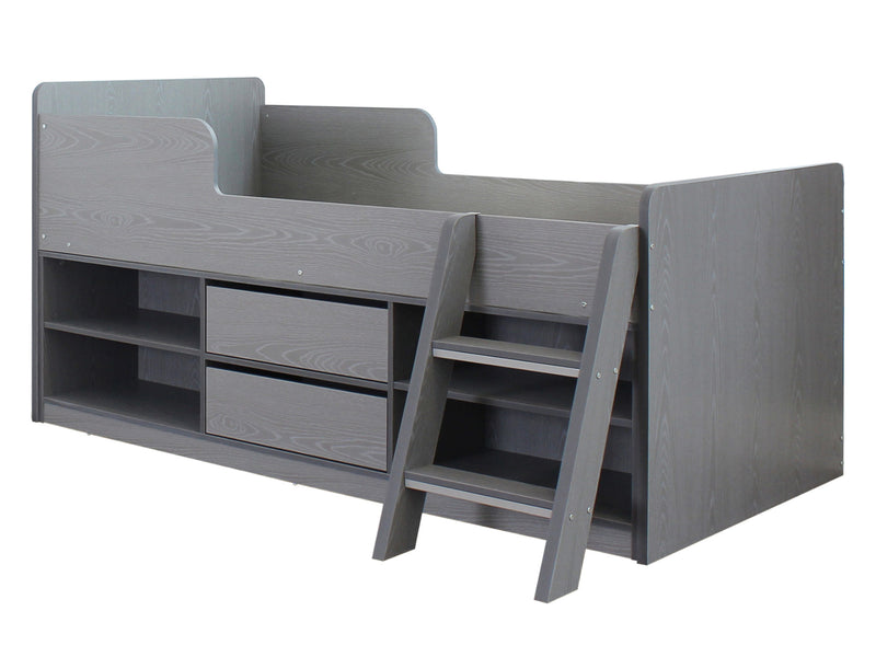 Felix Low Sleeper Bed in Grey