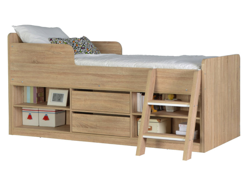 Felix Low Sleeper Bed in Oak Effect