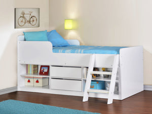 Felix Low Sleeper Bed in White