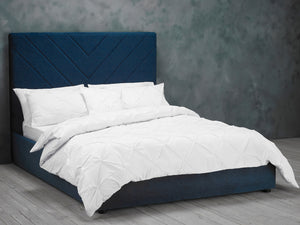 Islington Bed Frame in Blue Velvet
