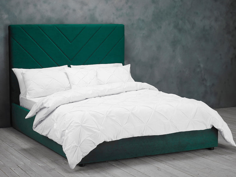 Islington Bed Frame in Green Velvet