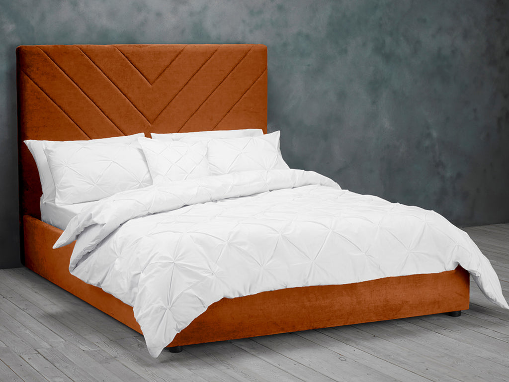 Islington Bed Frame in Burnt Orange
