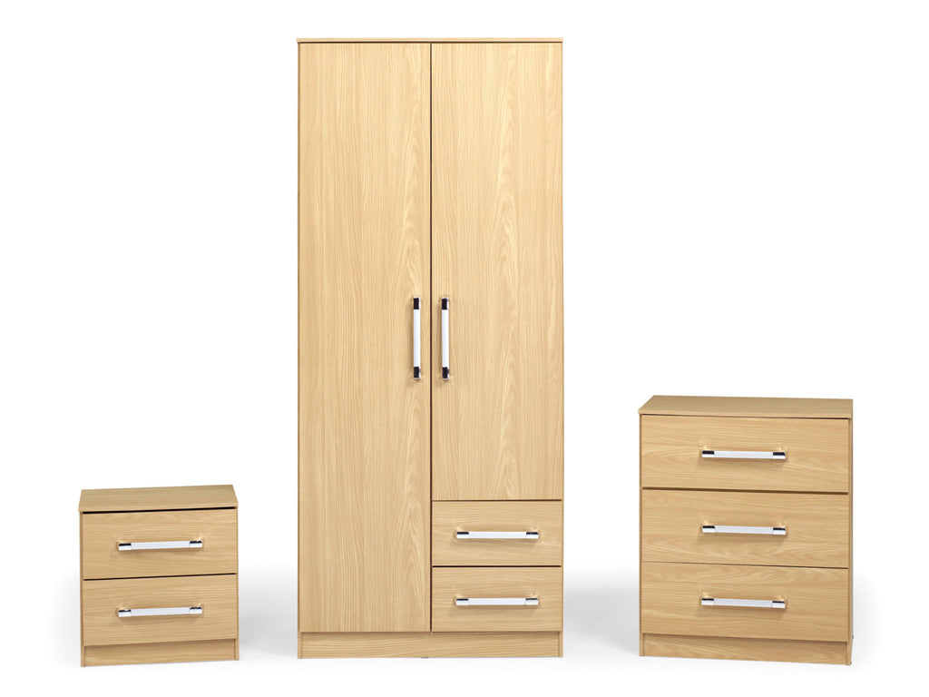 Jaspa Bedroom Set in Oak Effect
