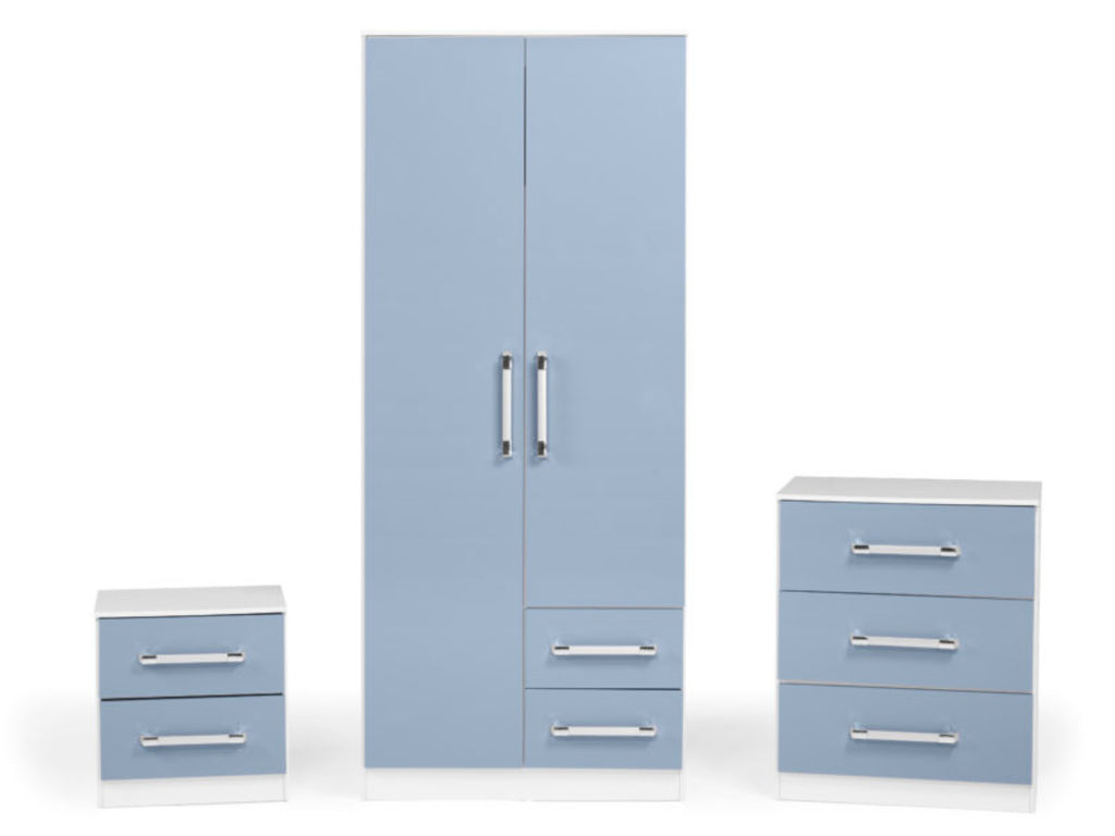 Jaspa Bedroom Set in Blue