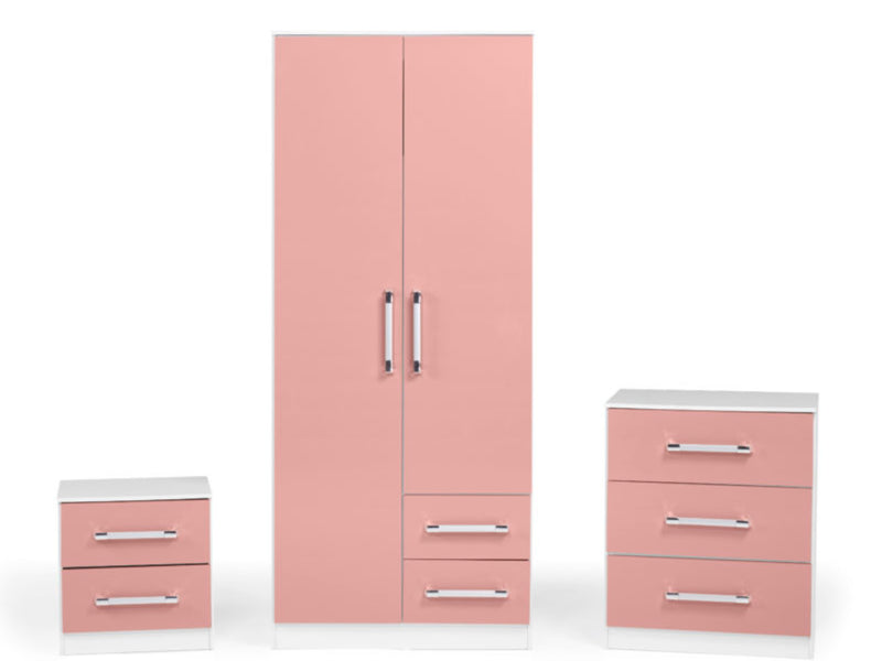 Jaspa Bedroom Set in Pink