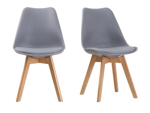 Louvre Dining Chair in Grey (2 Pack)
