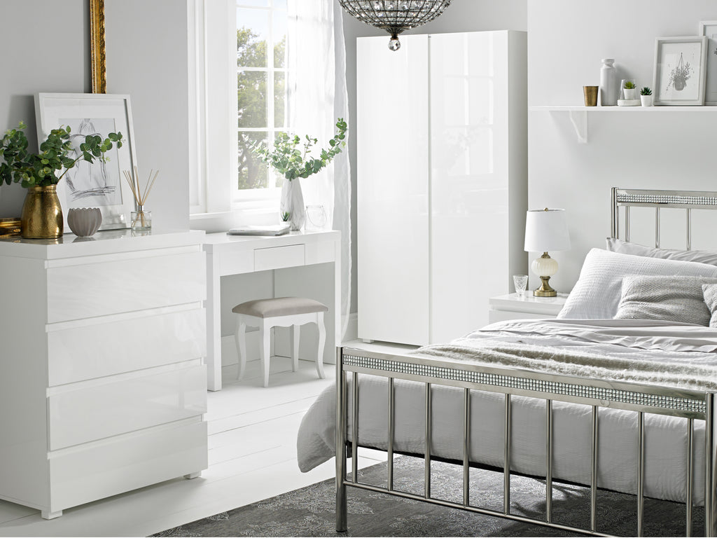 Puro Bedroom Furniture in White Gloss
