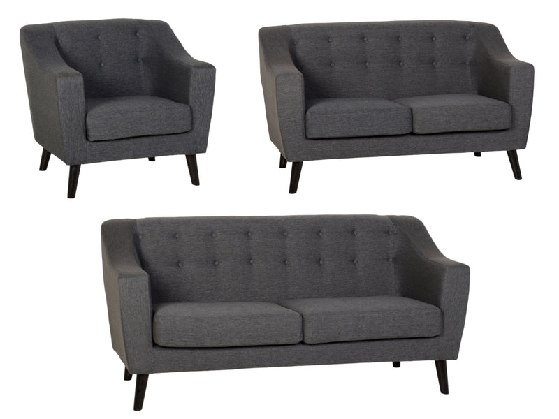 Ashley Sofa in Dark Grey Fabric