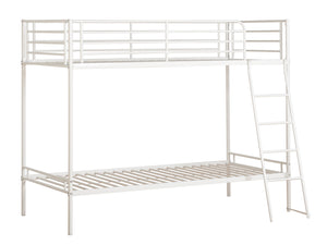 Brogan Metal Bunk Bed in White