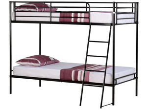 Brogan Metal Bunk Bed in Black