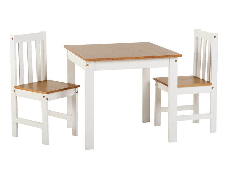 Ludlam 2 Seater Dining Set in White and Oak