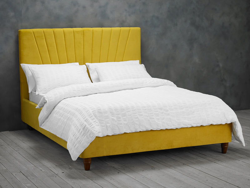 Lexie Bed Frame in Mustard Yellow