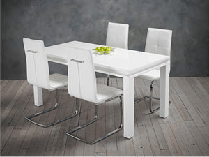 Opus Dining Chair in White (2 Pack)