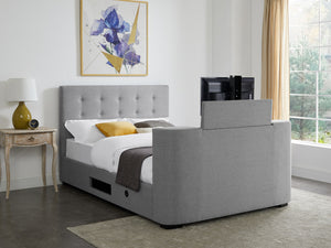 Mayfair TV Bed Frame in Grey Flannel