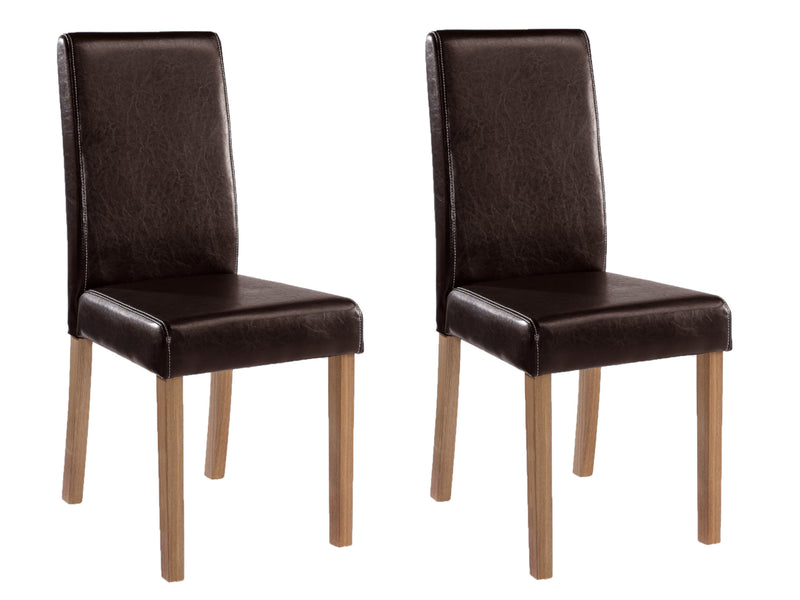 Oakridge Dining Chair in Brown (2 Pack)