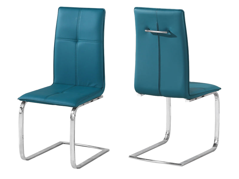Opus Dining Chair in Teal (2 Pack)