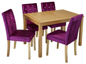 Paris Dining Chair in Purple (2 Pack)