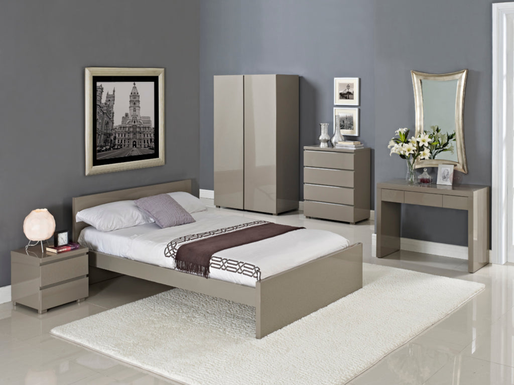 Puro Bedroom Furniture in Stone Gloss