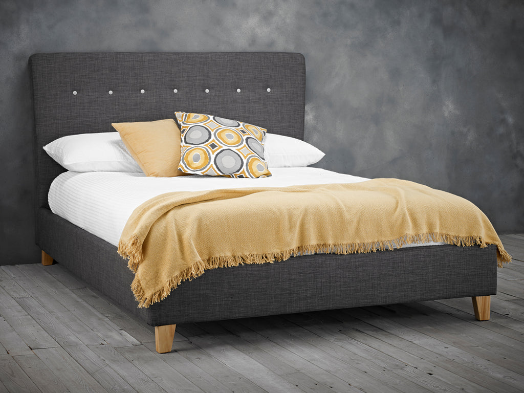 Portico Bed Frame in Charcoal