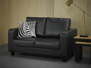 Sofa in a Box in Black Faux Leather