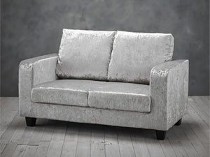 Sofa in a Box in Crushed Velvet Silver