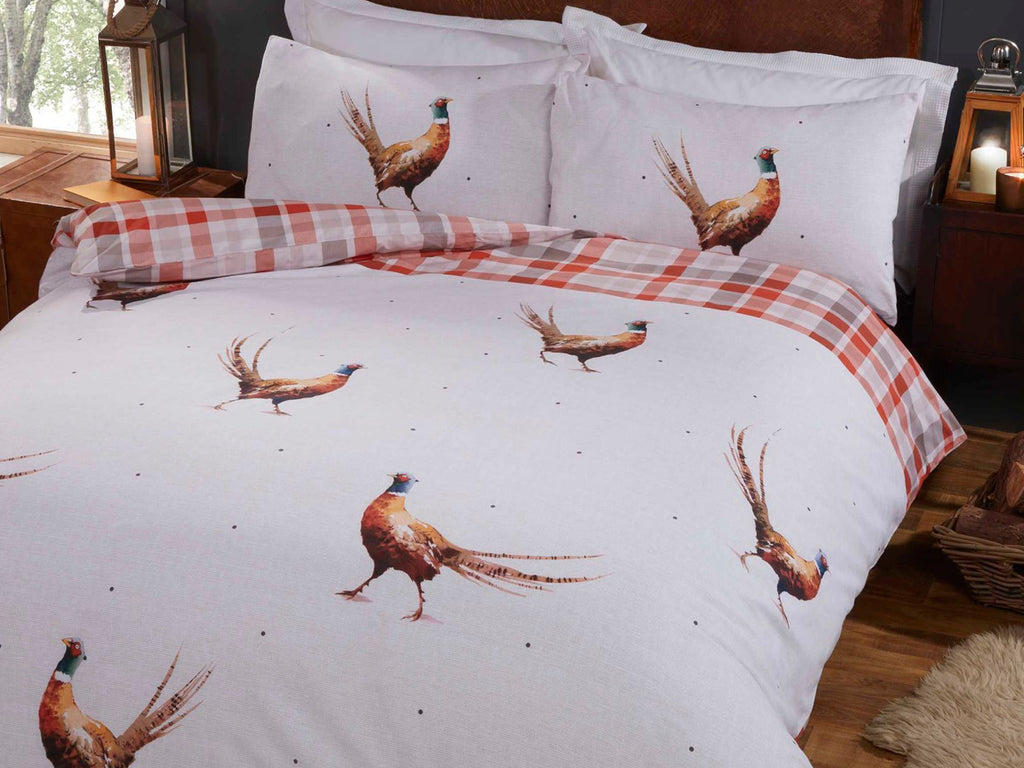 Pheasants Reversible Bedding Set Multi
