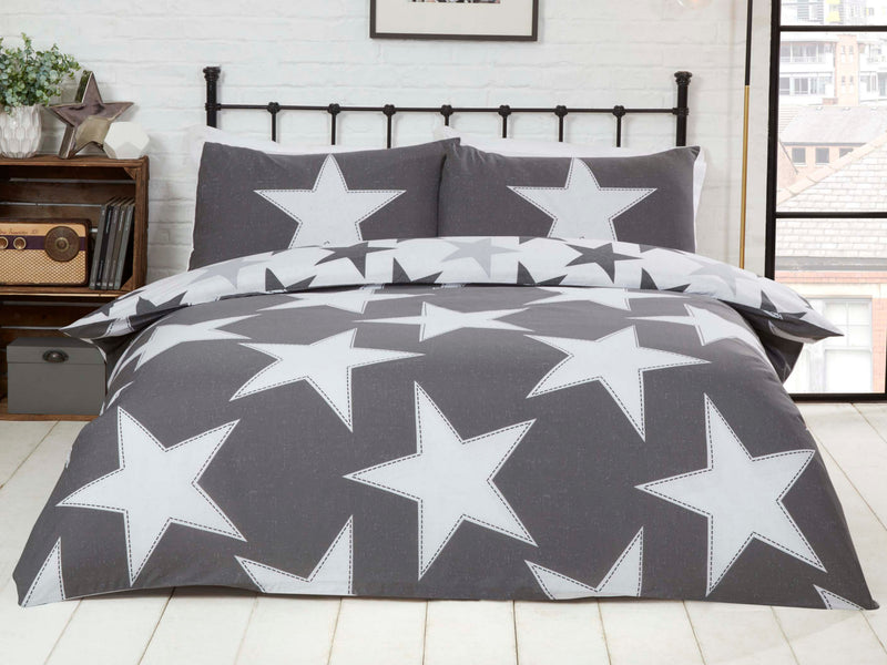 All Stars Reversible Bedding Set Grey