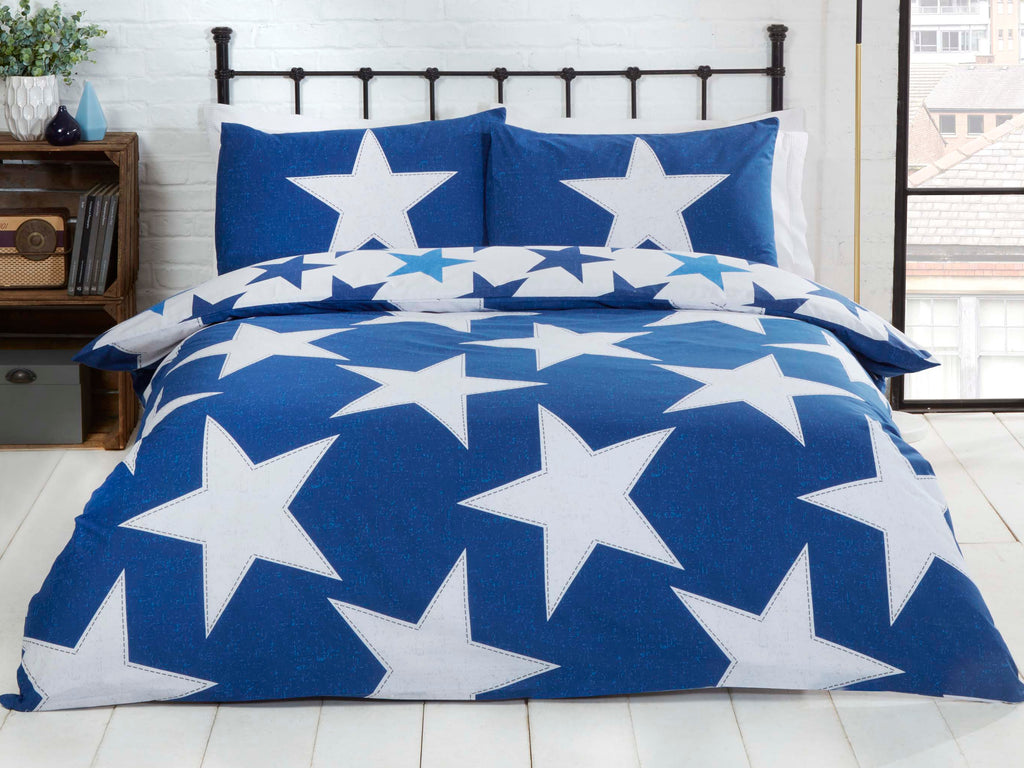 All Stars Reversible Bedding Set Navy
