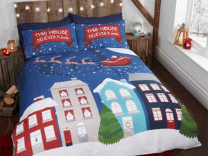 Midnight at Christmas Bedding Set Multi (glow in the dark)