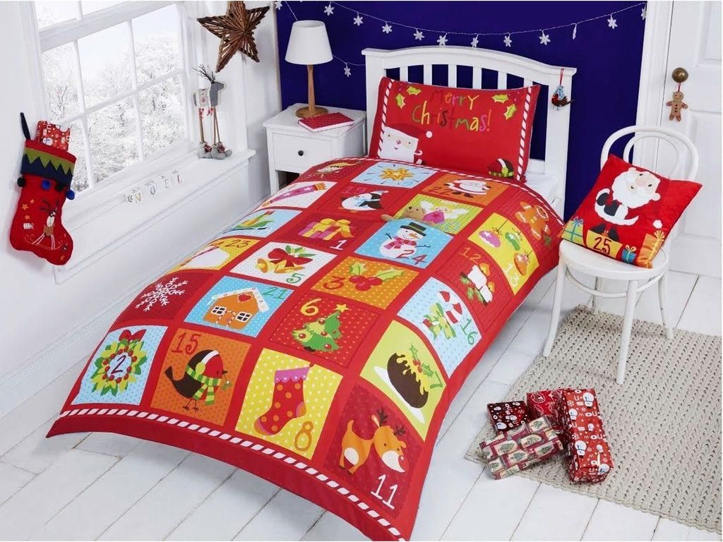 Advent Calendar Christmas Bedding Set Multi