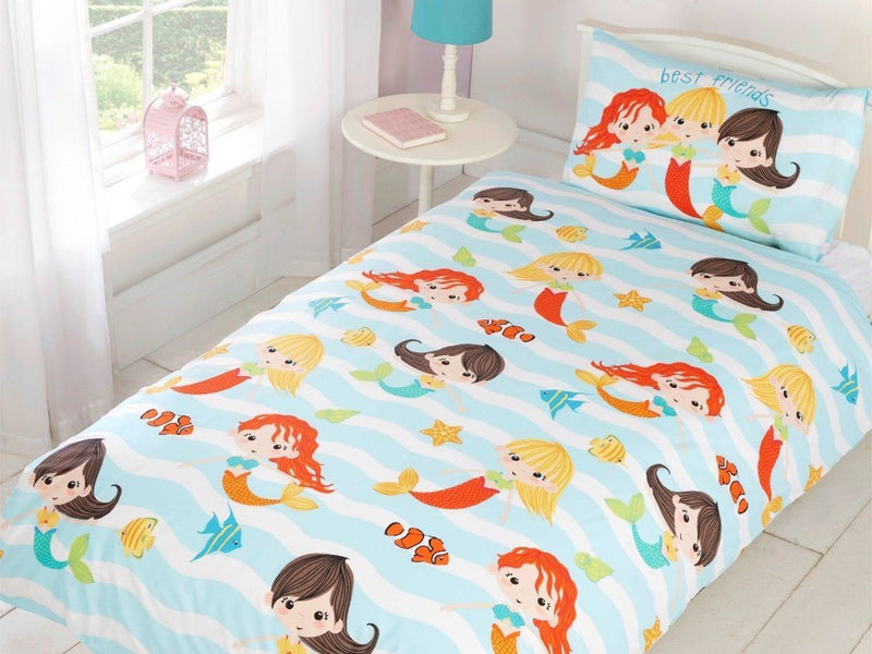 Mermaids Childrens Bedding Set Multi