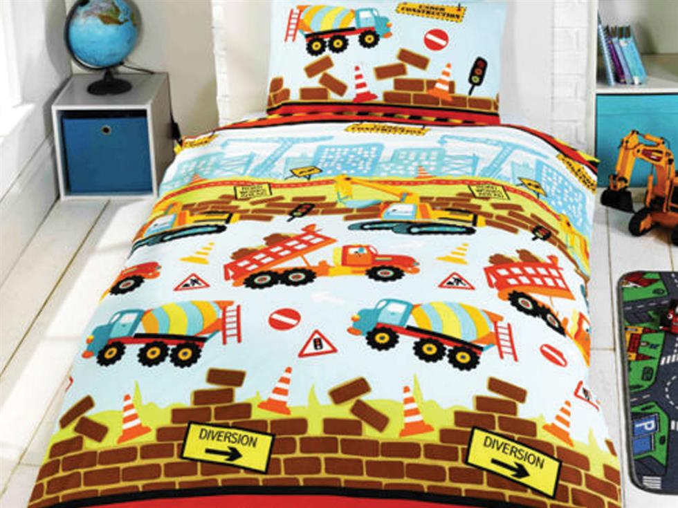 Under Construction Childrens Bedding Set