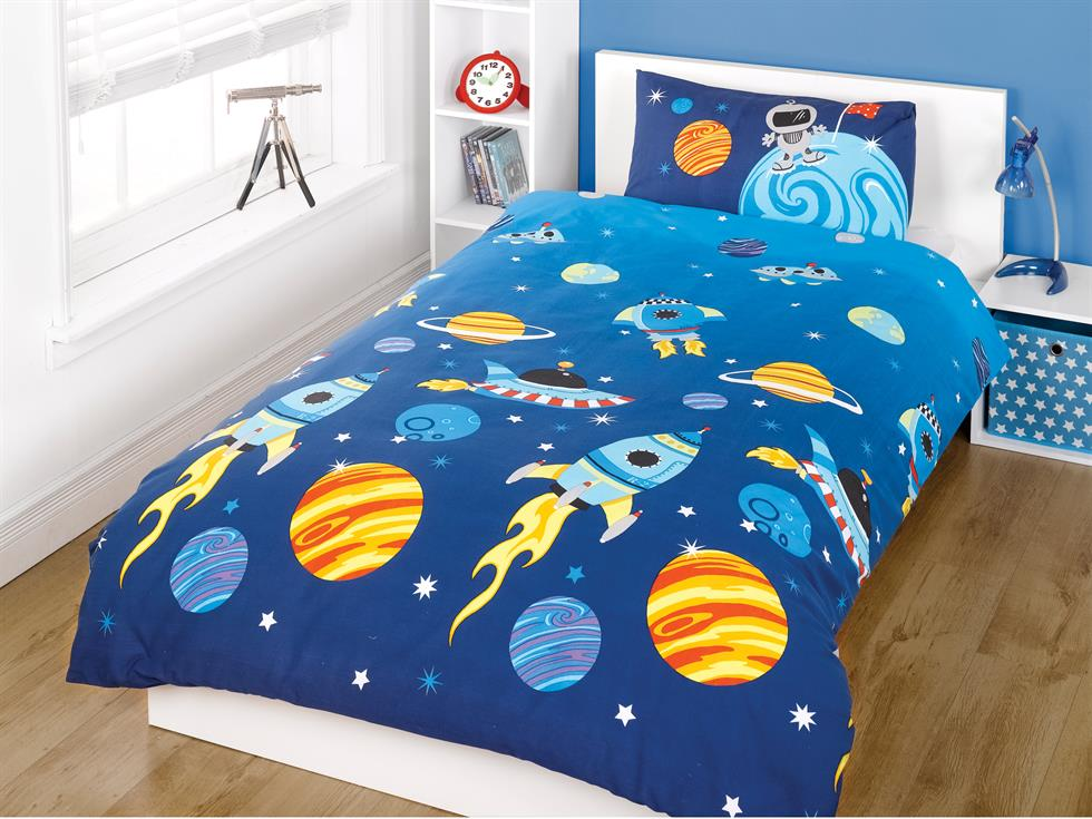 Rockets Childrens Bedding Set Blue