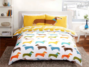 Sausage Dog Bedding Set Multi