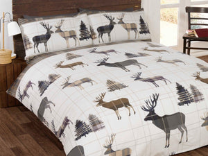 Woodland Stag Bedding Set Natural