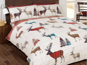 Woodland Stag Bedding Set Red