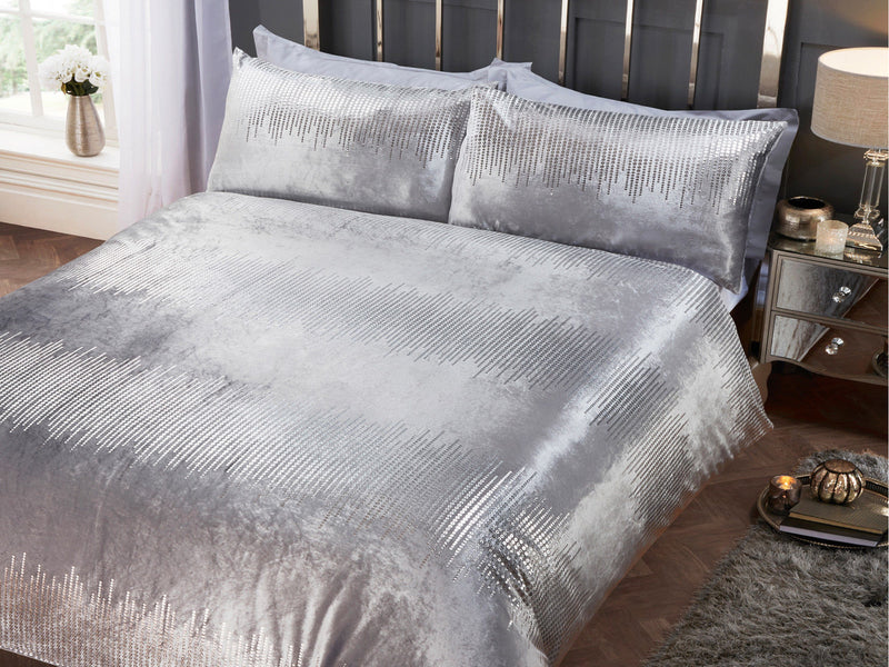 Tiffany Luxury Bedding Set Silver