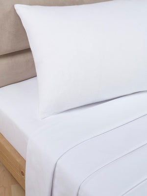 Percale Luxury Flat Sheet White
