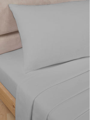 Percale Luxury Flat Sheet Grey