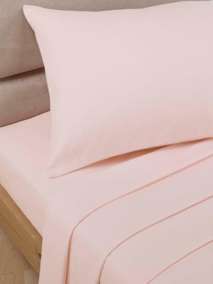 Percale Luxury Pillow Cases Soft Pink