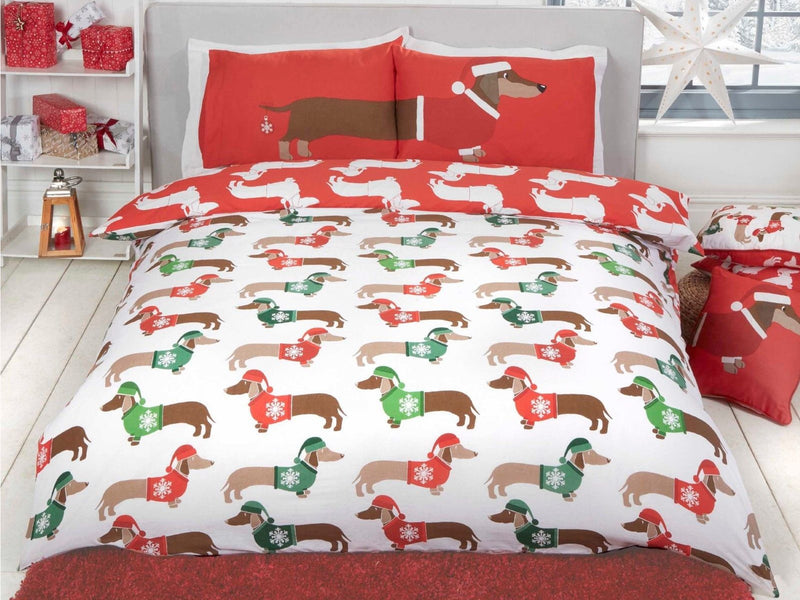 Christmas Sausage Dog Bedding Set Multi