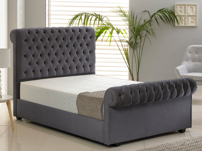 Windsor Luxury Bed Frame in Hercules Charcoal
