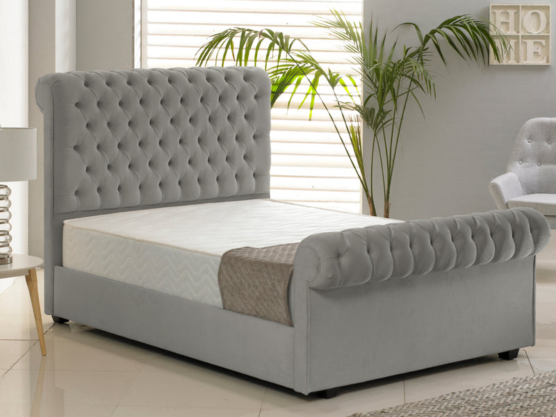 Windsor Luxury Bed Frame in Hercules Silver